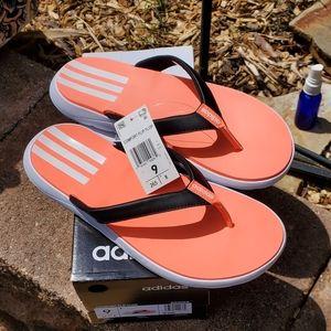 New adidas super squishy Cushioned flip flops